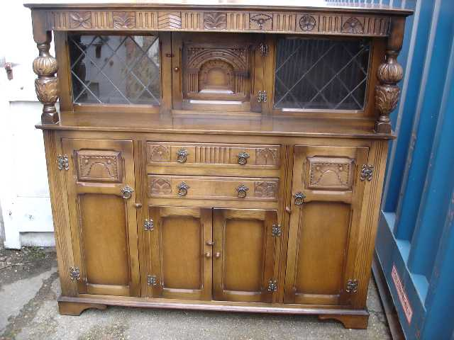 Antique Oak Court Cupboard, Sideboard 19th C