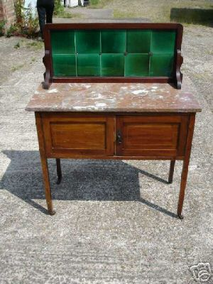 English Edwardian Marble-ceramic Wash Stand