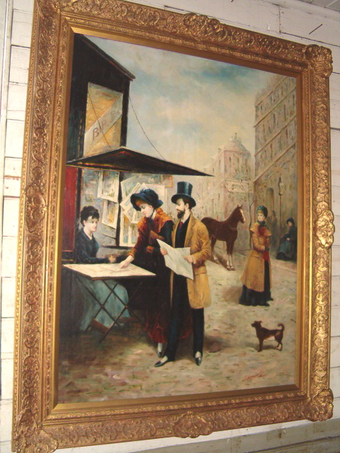 very large UK framed Oil Canvas Signed H. Callon