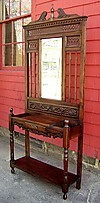 Elegant Regency 1940s country mahogany hall stand