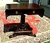 English Regency style sofa table flamed mahogany