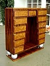 IMPRESSIVE  Walnut Art Deco style bar chiffonier chest