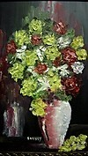 ORIGINAL oil painting Bouquet in Pink Vase By Soussy