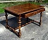 QUALITY Queen Mary style walnut LARGE 50 inch desk