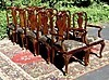 Stunning set of 12 carved Quenn Anne style chairs