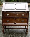 CLASSY Jacobean Drop Front English1890s Oak Desk