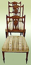Extraordinary Antique English 1870 Edwardian chairs