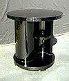 Striking black art deco style side cocktail table