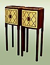 Pair Art Deco Ruhlman style mini bars / cabinets