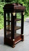 Splendid Dark Walnut Large Biedermeier Style cabinet