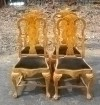 Gorgeous set of 4 English Queen Anne Elmwood Chairs