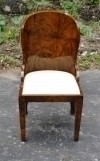 Unusual forms Art Deco style BURL WALNUT Chair