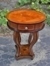 Great Inlaid Art Deco style side table walnut + maple