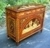 Splendid Greek revival marquetry sideboard buffet