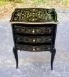 Gilt and ebonized French Directoire style side tables