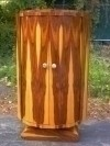 Perfect Art Deco style Brazilian Rosewood cabinet bar