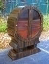 GorgeousRound Golden Ebony Art Deco inspired cabinet