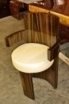 Superb Golden Makassar Ebony Art Deco style  Chair