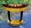 Superbly Inlaid console Art Deco style rosewood and Elm