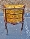 Elegant French Directoire style side table bed commode
