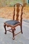 Fabulous solid mahogany Chippendale Style chair