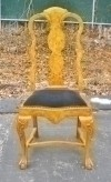 Splendid Queen Anne carved Elmwood Chair