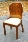 to order elegance Art Deco style BURL WALNUT Chair