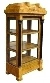 Splendid unusual Biedermeier Style china cabinet