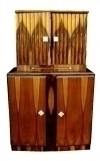 Bar Sideboard Art Deco style exotic Rosewood