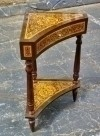 Quality Walnut corner SIDE TABLE directoire style