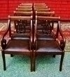 FINE SET 10 Regency Lyre back chairs leather seats