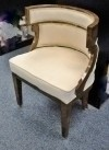 Fine dark walnut Armchair Biedermeier Style