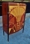 Here in 6 weeks Art Deco inspired book case bar cabinet