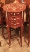 In 6 Weeks Louis XV style side table marquetry commode