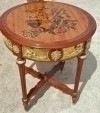 Gorgeous marquetry ornate Louis XV style side table