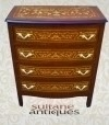 Large DUTCH MARQUETRY Inlaid COMMODE Dresser Chest