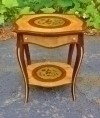 Splendid marquetry Louis XV style French  side table