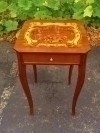 Beautiful inlaid Victorian style cocktail side table