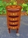 Louis XV style side table marquetry commode