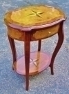 Most elegant Deco style superbly  inlaid side table