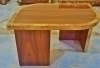 in 11 weeks large side table 2 toned Art Deco forms