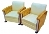 In 10 weeks Pair Armchairs Art Deco style Maple chrome