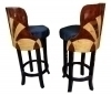 Fantastic Set of 2 HIGH Bar stools Art Deco inspired!!