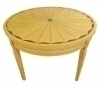 Round inlaid Biedermeier style Dining/Conference table