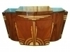 Superb Quality Art Deco style rosewood walnut credenza