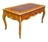 IMPERIAL Quality Large Elm wood Louis XV Style Desk
