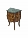 Greeen marble top side table Louis XV style