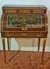FINEST marble top Charles X style Roll top secretaire
