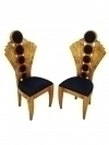 Most elaborate PAIR Maple Art deco chairs