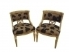 Pair Splendid Maple directoire style armchairs